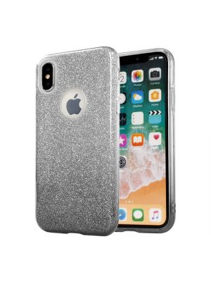Ovitek silikonski za iPhone X/Xs | Bling Case Black