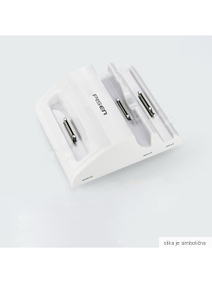 Polnilna postaja za Apple iPhone 3/4/iPad/iPad 2/ iPod touch/ iPod nano | Pisen Bela