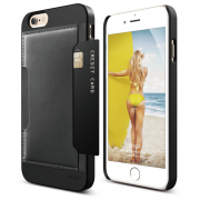 Ovitek trdi usnjen za iPhone 6/6S Outfit Leather Pocke Elago Black