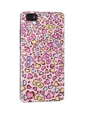 Ovitek za Huawei P10 Lite PINK 3D Hearts Print Case