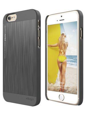Ovitek za Apple iPhone 6/6s TEMNO SIV videz kovine Outfit elago