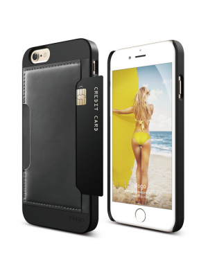 Apple iPhone 6/6S | Ovitek Outfit Leather Pocke Elago Black
