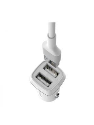Avto polnilec s kablom micro USB 2.4A | Borofone BZ2 Bel