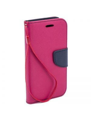 Preklopna torbica za iPhone 6+/6S+ | Fancy Flip Pink Modra