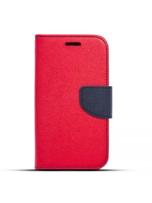 Preklopna torbica Fancy Flip za Samsung Galaxy J1/J100 Rdeče Modra