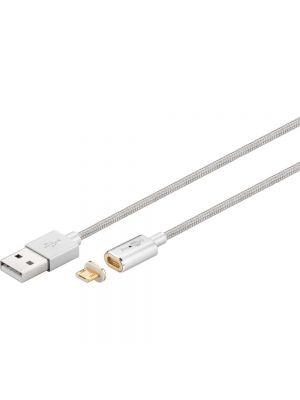 Magnetni kabel z Micro USB adapterjem Srebrni