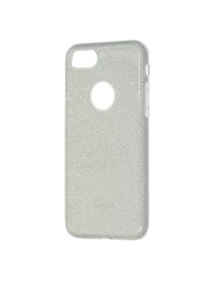 Ovitek silikonski za iPhone 6/6s SREBRN z bleščicami Glitter Case Remax