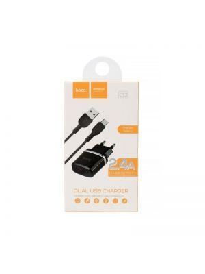 Polnilec s kablom Type-C 2.4A | Hoco C12 Bel