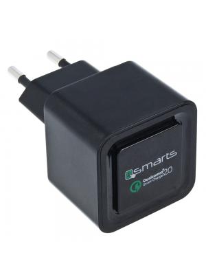Polnilec univerzalni za hitro polnjenje USB  Quick Charger ČRN 4smarts