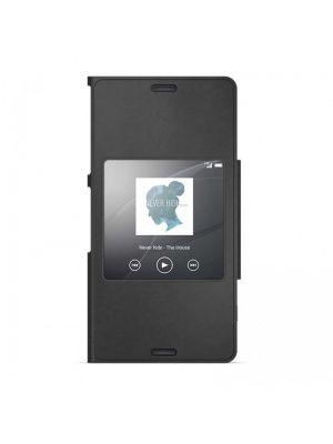 Ovitek Style Cover Window Original za Sony Xperia Z3 Compact Črn Preklopni
