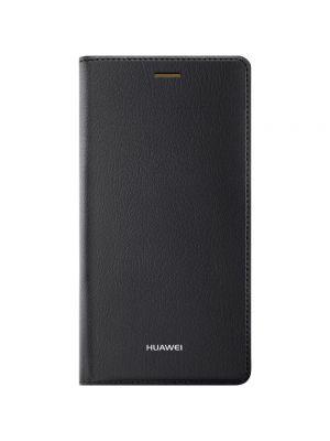 Preklopna torbica za Huawei P8 Črna videz usnja Original