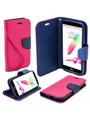 Ovitek preklopni za LG G4 Stylus Pink