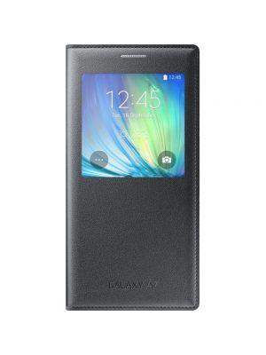Ovitek preklopni S View Cover EF-CA700BCEGWW Original za Samsung Galaxy A7 Siva