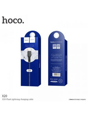 Podatkovni kabel Apple Lightning 3m | Hoco X20 Bel