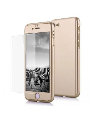 Set ovitek trdi + steklo za iPhone 6/6S | Cover 360° Full Zlat