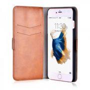 Ovitek za Apple iPhone 7/8 | Magic 2 v 1 Rjav videz usnja Devia Preklopni