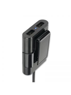 Avto polnilec Multicharge za prednje in zadnje sedeže USB Type-A 4smarts Črn