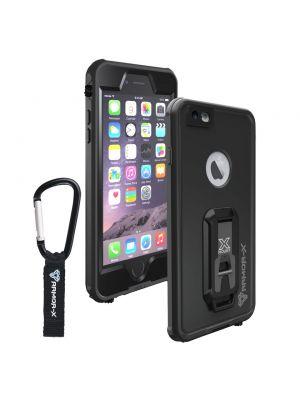 Apple iPhone 6/6S ČRN vodoodporni s karabini Armor-X