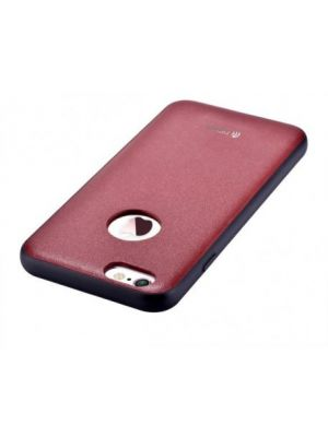 Ovitek trdi usnjen za iPhone 6/6S Original Leather Case Devia Red