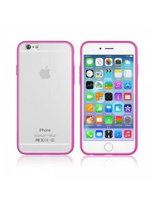 Ovitek za Apple iPhone 6/6s PROZOREN z vijoličastim robom Hybrid Devia