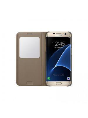 Preklopna torbica za Galaxy S7 Edge G935 | Samsung Original Cover Gold
