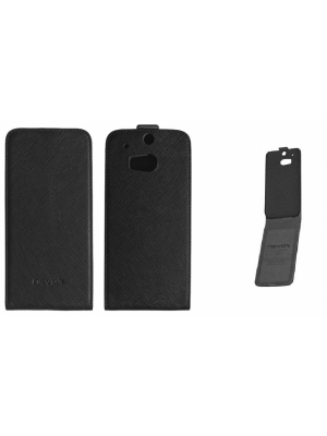 Ovitek vertikalna za HTC M8/ One Črn Nevox Preklopni