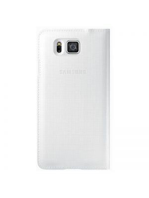 Preklopna torbica S View Cover EF-CG850BWEGWW Original za Samsung Galaxy Alpha Bela